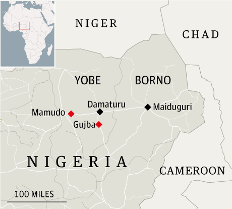 Map - Nigeria student massacre
