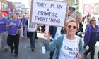Thousands march during the Conservative Party Conference