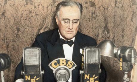 President Franklin D Roosevelt Delivers Radio Address