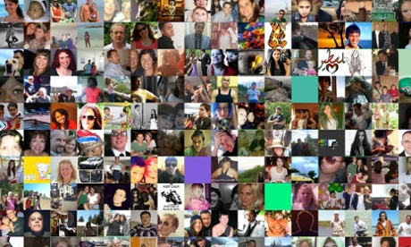 A screenshot of Faces of Facebook
