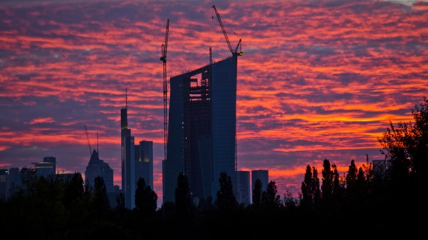 New headquarters of the ECB in Frankfurt,.