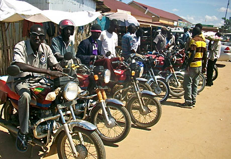 Boda boda drivers in Juba, South Sudan