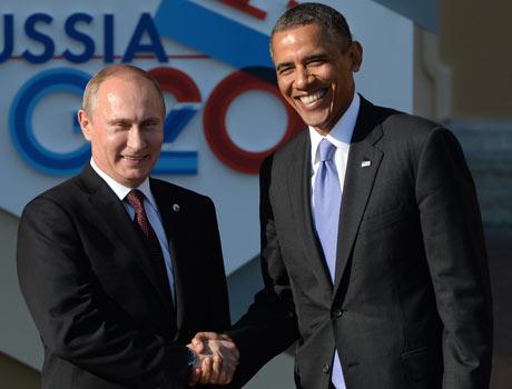 Vladimir Putin and Barack Obama were all smiles