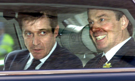 Alastair Campbell with then prime minister Tony Blair, for who he was press secretary, in 2001