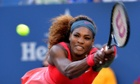 Serena Williams returns to Li Na during her straight-sets US Open sem-final victory