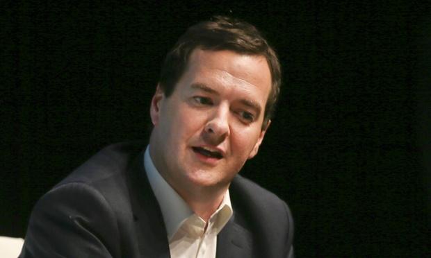 George Osborne is giving a speech on the economy.