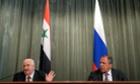 Walid Muallem and Sergei Lavrov