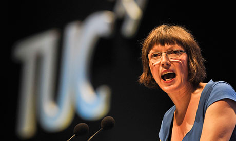 Frances O'Grady addresses the annual conference in Bournemouth