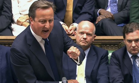 David Cameron addresses the Commons during the debate on intervention in Syria. Photograph: Pool/Reuters