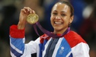 Jessica Ennis with her gold medal for the women's heptathlon at the London 2012 Olympic Games