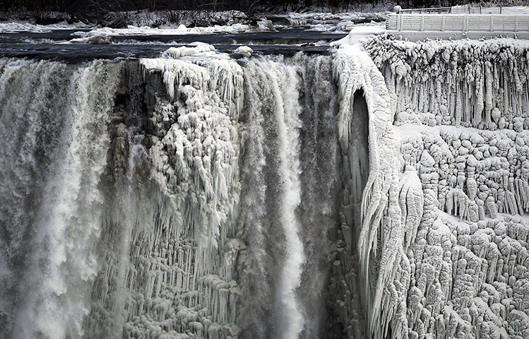 20 Photos: The Niagara Falls are partially frozen due to extreme cold weather