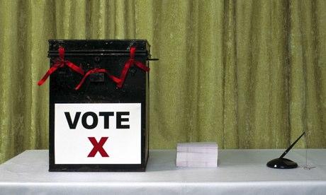 ballot box on a table