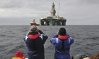 Drilling near Port Stanley in the Falkland Islands
