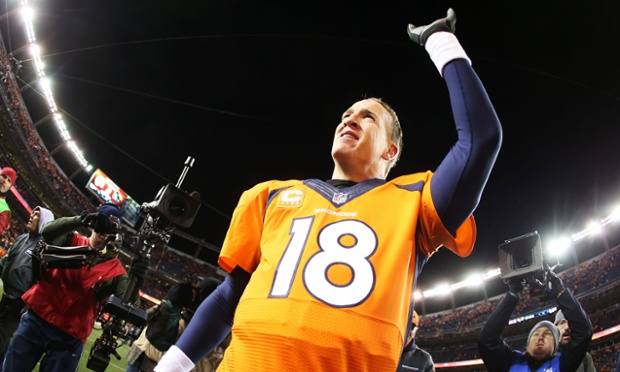 Peyton Manning and his Denver Broncos earned a tie with the New England Patriots in the AFC Championship on Sunday after beating the San Diego Chargers 24-17.