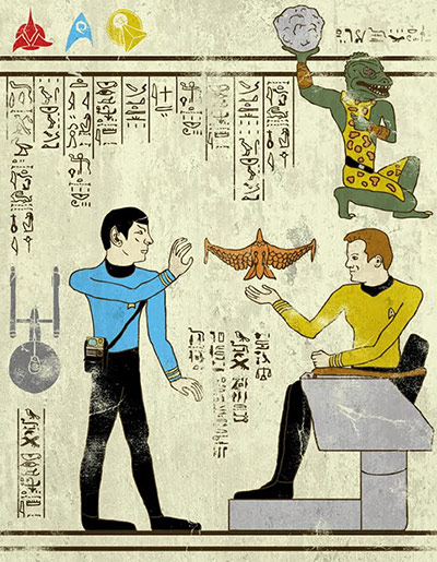 Josh Lane Hero-glyphics: Star Trek