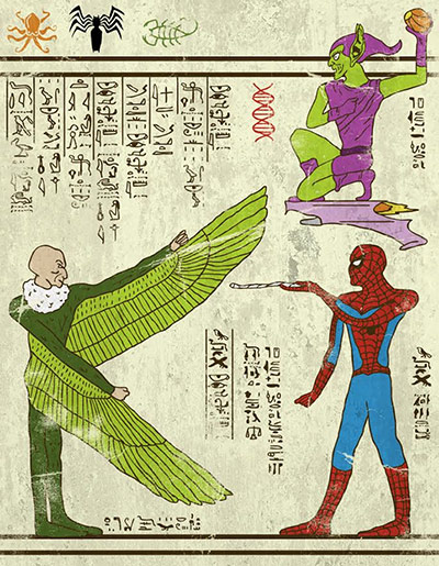 Josh Lane Hero-glyphics: Spiderman