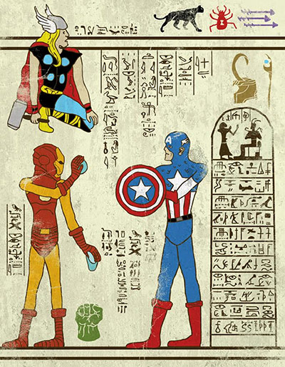 Josh Lane Hero-glyphics: Avengers