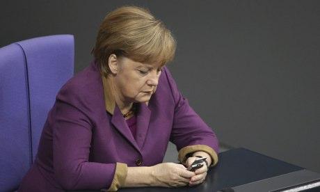 Angela Merkel on mobile