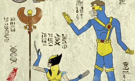 Men of ancient Egypt … Hero-glyphics by Josh Lane. Click to
