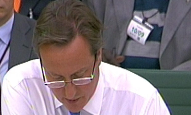 David Cameron is giving evidence to the liaison committee this afternoon.