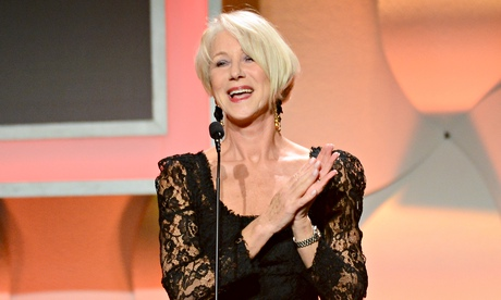 Helen Mirren sporting the sheer look at an awards ceremony last year.