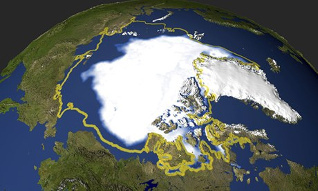 Nasa image of Arctic sea ice