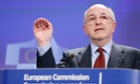 European Union Competition Commissioner Joaquin Almunia speaks during a news conference at the EU Commission headquarters in Brussels.