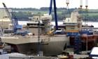 British aircraft carrier HMS Queen Elizabeth und