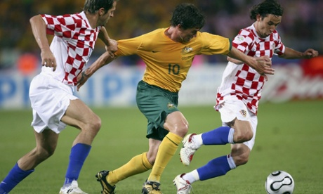 Harry Kewell in action during the 2006 World Cup game against Croatia in Germany.