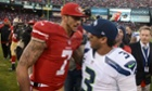 San Francisco 49ers quarterback Colin Kaepernick faces Seattle Seahawks quarterback Russell Wilson.
