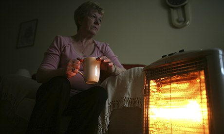 Pensioner and electric fire