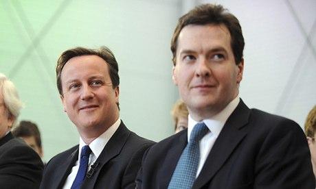 David Cameron George Osborne economy poll