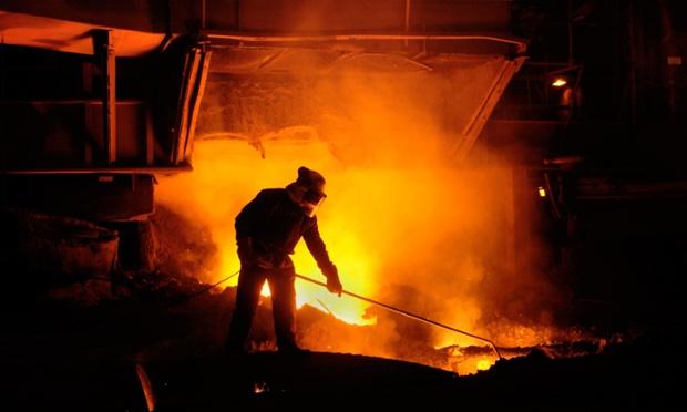 Blast Furnace No 5 at Tata Corus Steelworks at Port Talbot, South Wales.