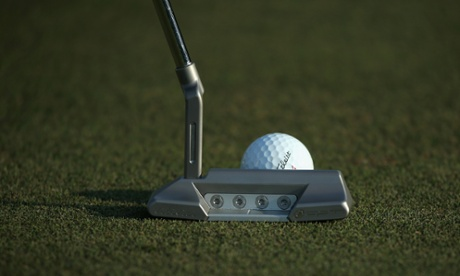 ABU DHABI, UNITED ARAB EMIRATES - JANUARY 15:  A close-up of the putter of  Paul Lawrie of Scotland during the Pro Am event prior to the start of the Abu Dhabi HSBC Golf Championship at the Abu Dhabi Golf Cub on January 15, 2014 in Abu Dhabi, United Arab Emirates.  (Photo by Andrew Redington/Getty Images) Golf