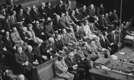 Labour MPs at the state opening of parliament in November 1976