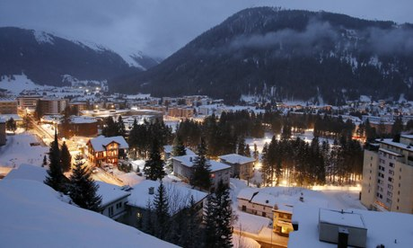 General view of the city of Davos, the Congress Hall venue of the World Economic Forum