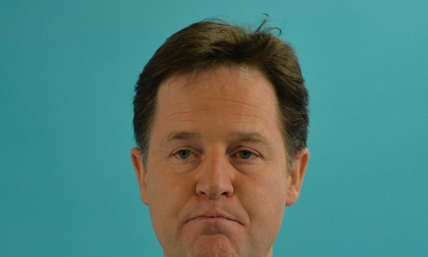 Nick Clegg, the Lib Dem leader, who is struggling to contain the Lord Rennard crisis.