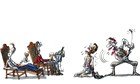 Benoit Jacques illustration for Tim Dowling column on a cinema that serves meals