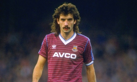 Alan Devonshire sporting the greatest kit in West Ham United's history