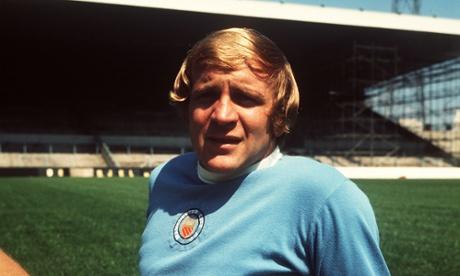 Franny Lee in old-school City kit with pre-copyright badge sewn on by Maine Road tea lady