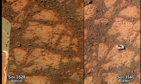 Mars mystery of the white rock leaves Nasa scientists puzzled