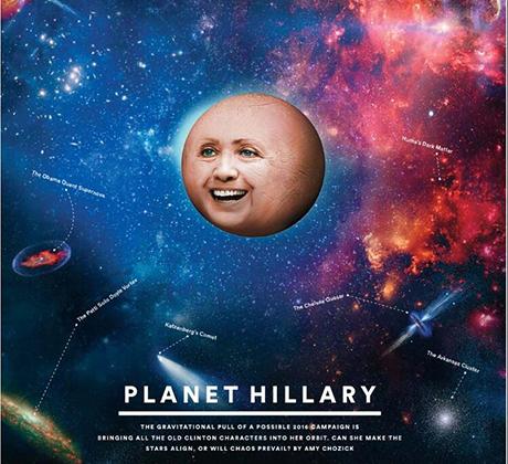 NYT Magazine Planet HIllary cover