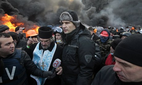 Vitali Klitschko at Kiev protests