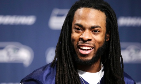 Seattle Seahawks cornerback Richard Sherman shares his thoughts on the word 'thug' at an press conference ahead of Super Bowl XLVIII.
