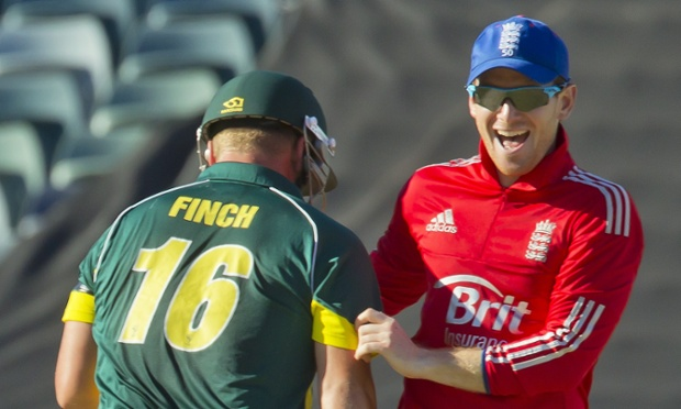 Eoin Morgan finds something to smile about.