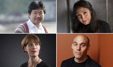 film composite: Hirokazu Koreeda, Haifaa Al-Mansour, Joshua Oppenheimer, Clio Barnard