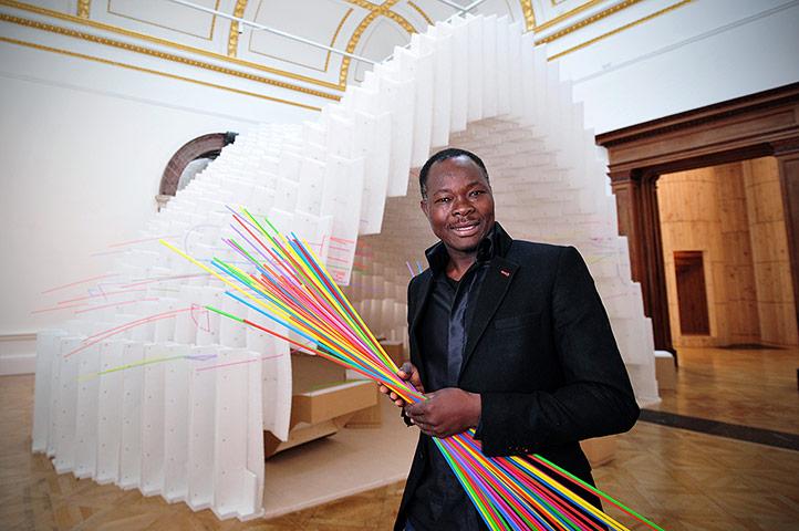 Architecture: Architect Diébédo Francis Kéré with his installation at Sensing Spaces