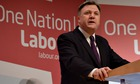 Shadow chancellor Ed Balls speaks to the Fabian Society's annual conference at the Institute of Educ
