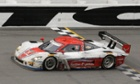 Joao Barbosa, of Portugal, drives the Action Express Corvette DP to the finish line to win the IMSA Series Rolex 24 hour race at Daytona International Speedway