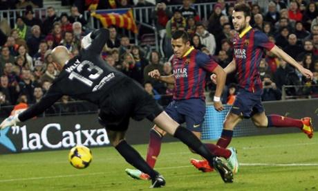 FC Barcelona's Alexis Sanchez